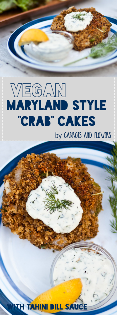 The BEST Vegan Crab Cakes | Crispy Maryland Style with Garlic Dill Tahini Sauce for dipping | Easy Vegan Appetizer Recipe