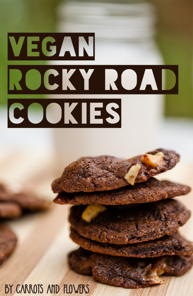 The most INCREDIBLE Rocky Road Cookies | Moist & Delicious Vegan Chocolate Cookie Recipe | Nutty Dessert with Macadamias and Vegan Marshmellows