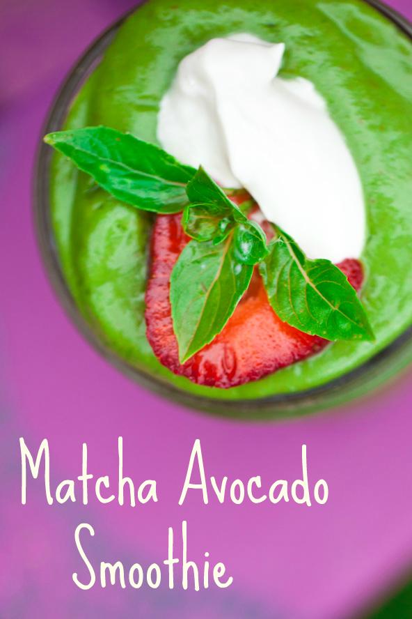 matcha avocado smoothie