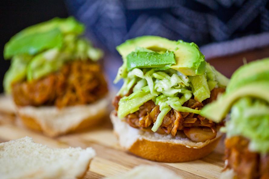 Carolina-Style BBQ Jackfruit Sliders