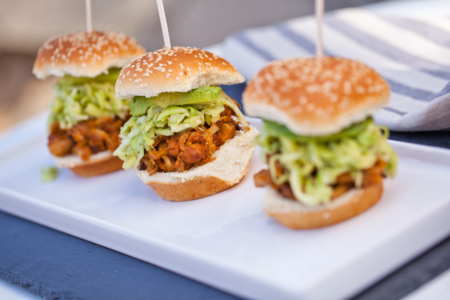Carolina-Style BBQ Jackfruit Sliders