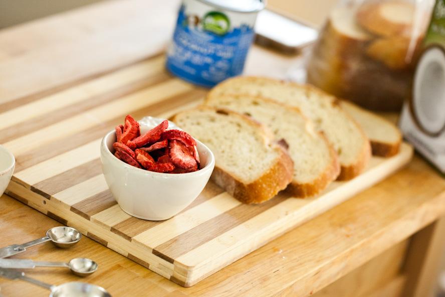 Strawberries & Cream Vegan French Toast