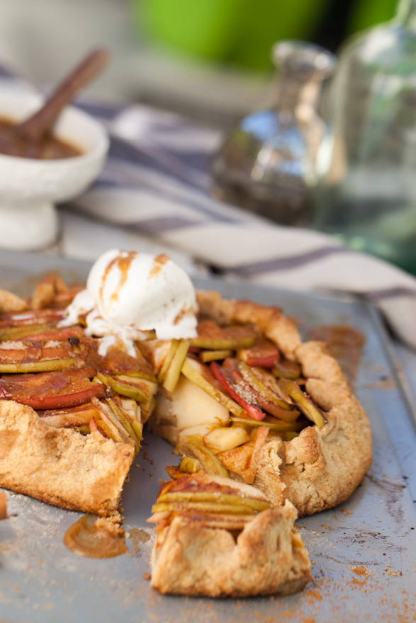 The most INCREDIBLE Vegan Apple Galette | Whole Wheat Pastry with Salted Caramel Sauce | Perfect Fall Dessert Recipe