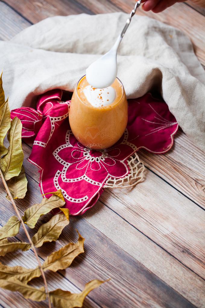 DELICIOUS Sweet Potato Egg Nog | Healthy Vegan + Refined Sugar-free |