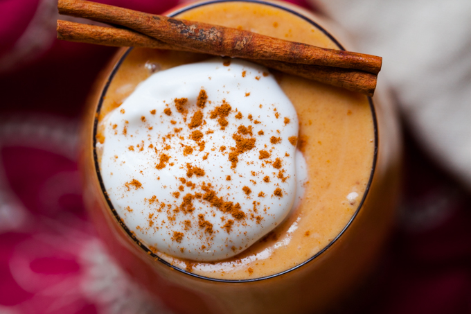 DELICIOUS Vegan Sweet Potato Egg Nog | Healthy + Refined Sugar-free |