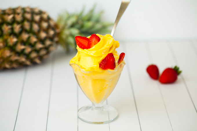 CREAMY refreshing Pineapple Mango Sorbet | Raw Vegan and so Delicious | Only 3 ingredients | Healthy, no-refined sugar