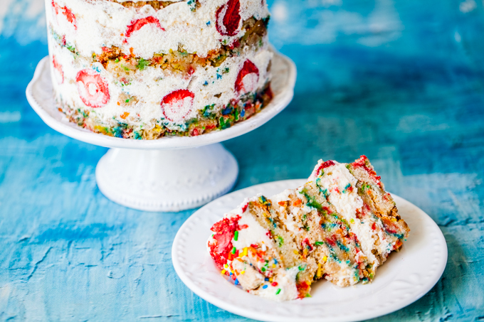 The ULTIMATE Vegan Funfetti Cake | Fun, colorful, and delicious | Dairy-free, plant-based, and kid-friendly | Perfect for any party!