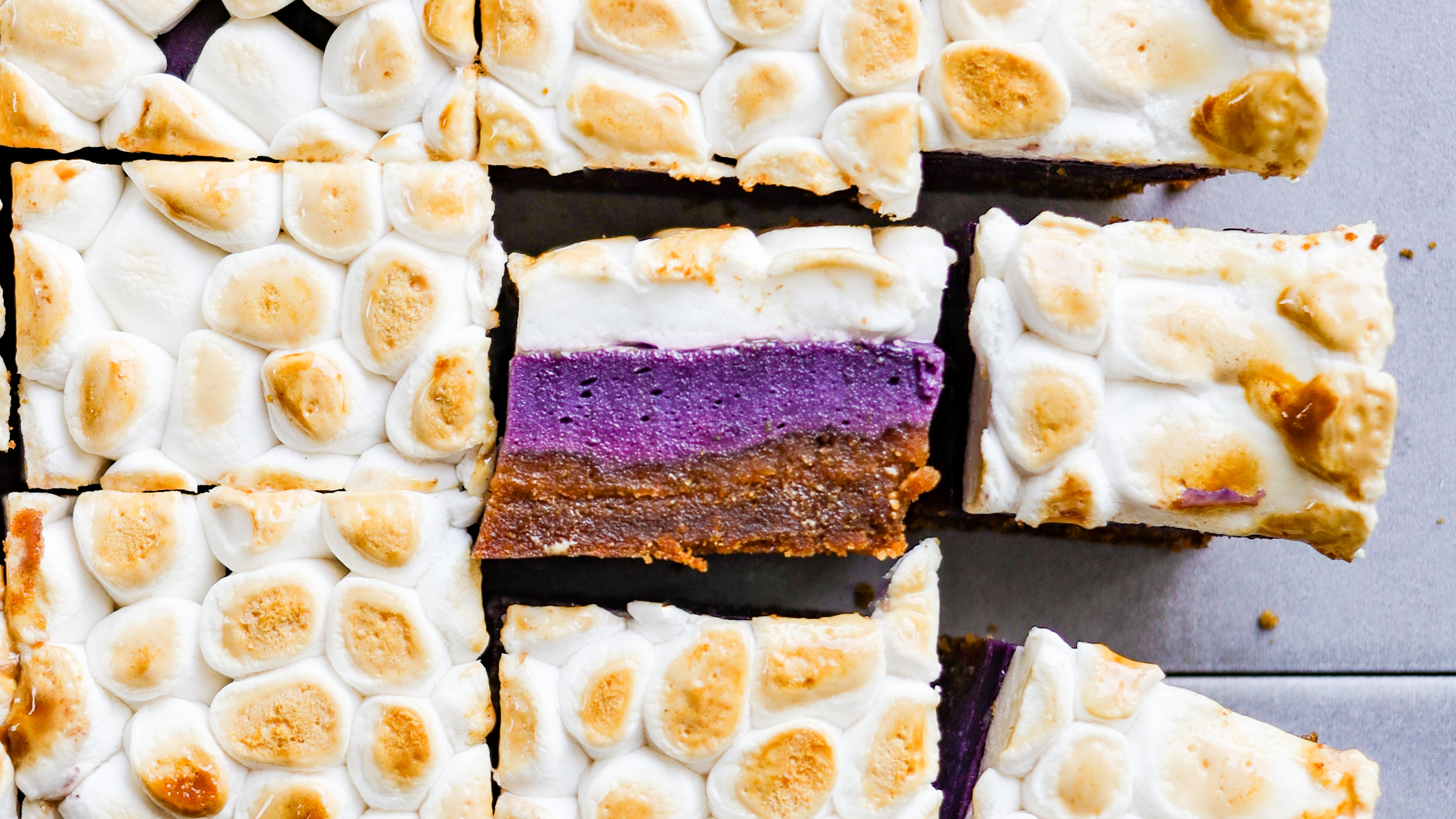 AMAZING vegan sweet potato bars for your holiday table! They make a beautiful dessert and side dish all rolled into one!